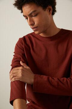 Springfield Boxy long-sleeved T-shirt bordeaux