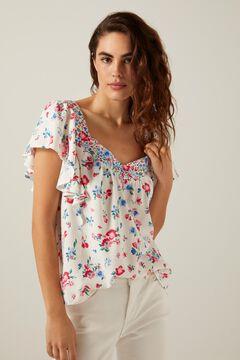 Springfield Mixed floral print blouse medium beige