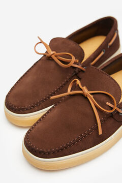 Springfield SPLIT LEATHER DECK SHOE made in Spain brown