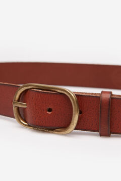 Springfield Leather belt with double buckle brown