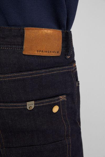 Springfield - Premium slim denim two-way-stretch desized-wash denim. - 5