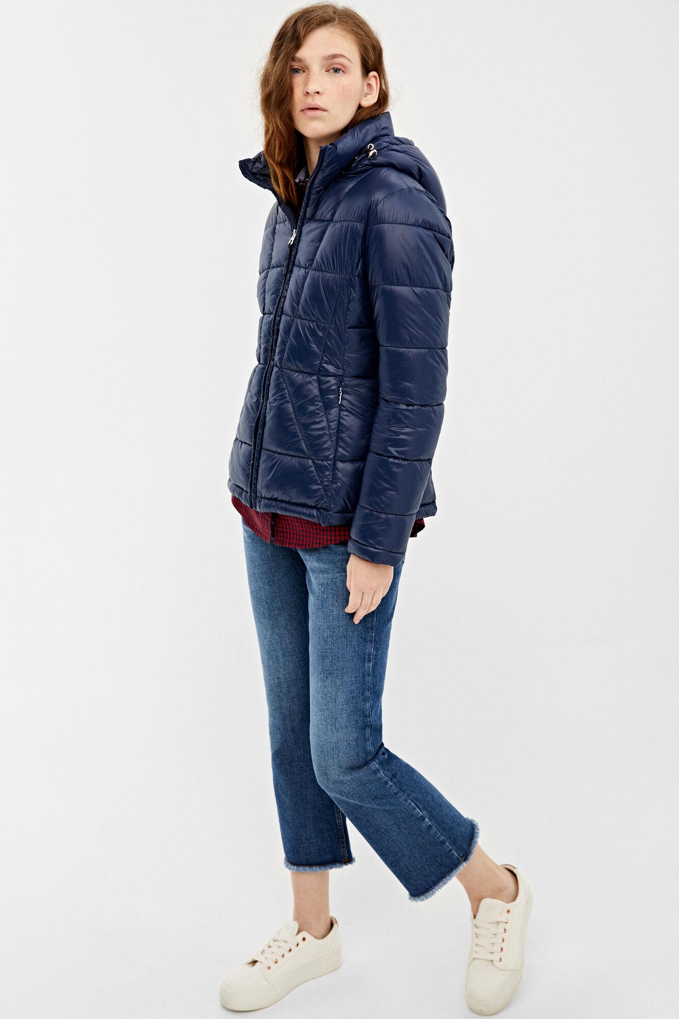 L XS XL M Women/'s Denim Jeans Jacket with Detachable Hood S