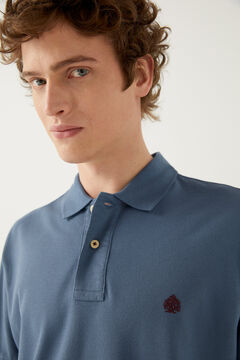 Springfield Essential piqué polo shirt steel blue