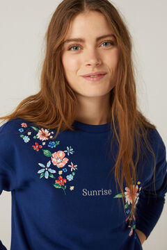 Springfield Sunrise Swiss embroidery sweatshirt blue