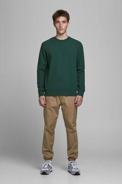 Springfield Essential crew neck sweatshirt green
