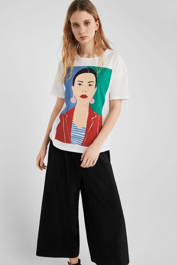 b8531cad9 Springfield Camiseta ilustración chica natural