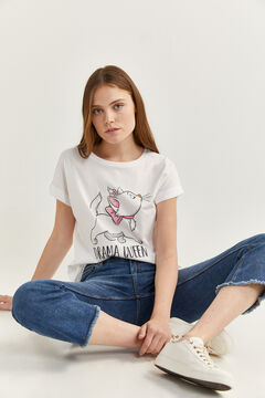 "Springfield ""Drama Queen"" graphic t-shirt white"