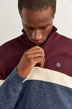Springfield ORGANIC COTTON ZIP-UP JUMPER blue