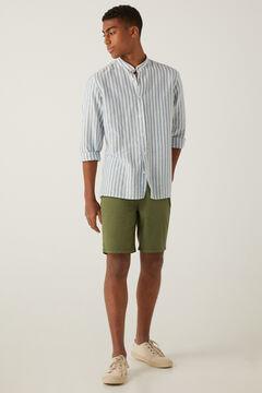 Springfield Washed slim fit 5-pocket Bermuda shorts grey