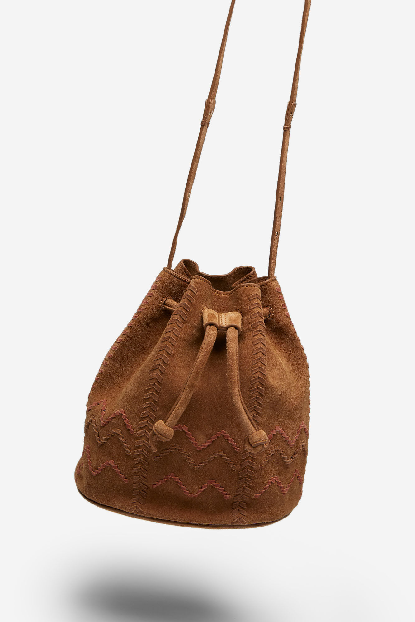 Split Leather Bucket Bag Accessories Springfield Man Woman