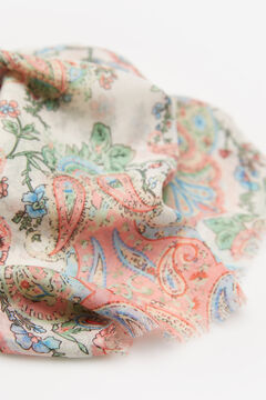 Springfield Paisley and floral print scarf deep red