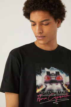 Springfield Camiseta Back to de future negro