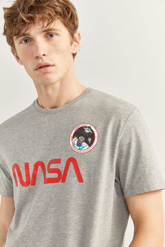 Springfield NASA PRINT T-SHIRT grey