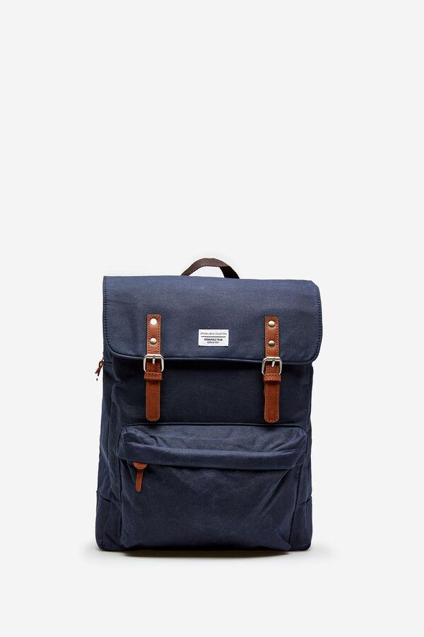 c225d1cb00 Springfield Waxed canvas rucksack bluish