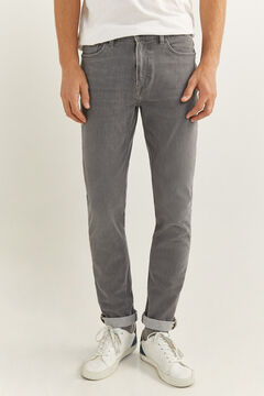 Springfield Grey medium wash bi-stretch skinny jeans grey
