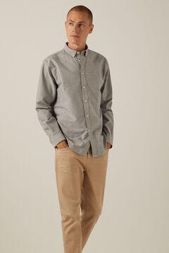 Springfield Coloured Oxford shirt grey mix