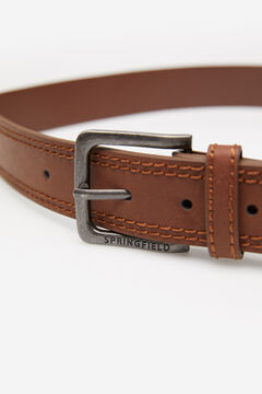Springfield FAUX LEATHER BELT WITH STITCHING brown