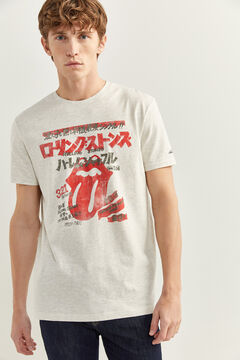 Springfield Short-sleeved Rolling Stones t-shirt grey mix