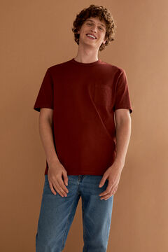 Springfield Boxy t-shirt with pocket red