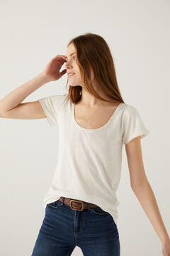 Springfield Lace bobbles t-shirt white