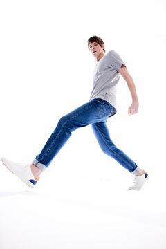 Springfield Jeans slim bi-stretch lavagem média-escura azulado