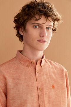 Springfield Linen shirt red