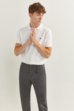 Springfield MICRO PRINT CHINOS WITH KEY RING grey mix