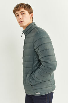 Springfield QUILTED JACKET WITH RECYCLED POLYESTER PADDING grey