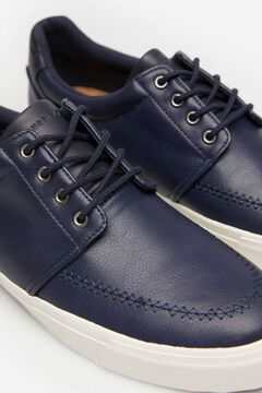 Springfield FAUX LEATHER CASUAL SHOE bluish