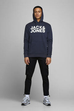 Springfield Sustainable sweatshirt with logo navy