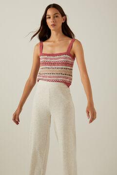 Springfield Organic cotton jacquard knit top strawberry