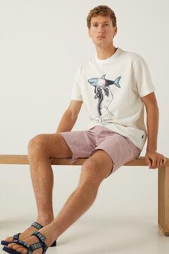 Springfield T-shirt tubarão cru