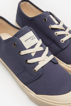 Springfield Rubber toe sneaker in cotton bluish