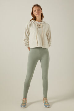 Springfield Organic cotton lace-up neck sweatshirt gray