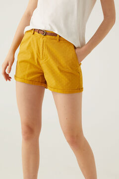 Springfield Chino shorts with belt golden