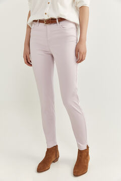 Springfield Satin Jeans pink