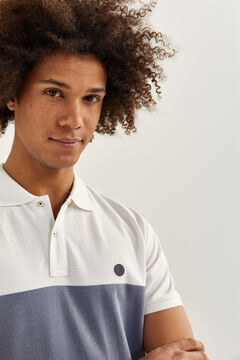 Springfield Slim striped Oxford polo shirt white