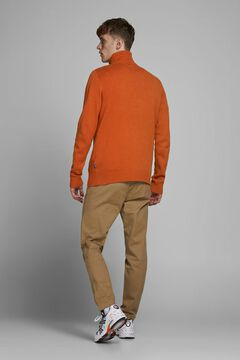Springfield Sustainable high neck jumper red