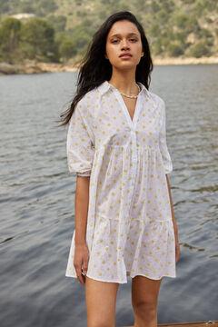Springfield Swiss embroidery voluminous shirt dress white