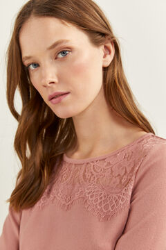 Springfield T-shirt Lace Canezou rose