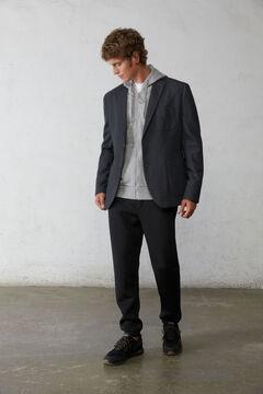Springfield Two-tone textured blazer. grey