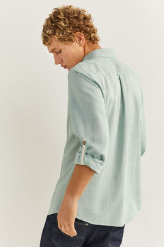 Springfield Textured shirt dark green