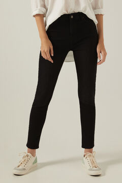 Springfield Jeans skinny high rise lavage durable noir