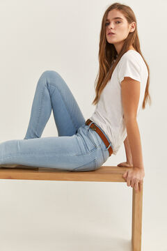 Springfield Jeans Jegging Lavagem Sustentável azul