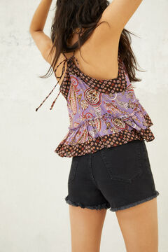 Springfield Paisley print top purple