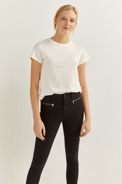Springfield High Rise Zips Trousers black