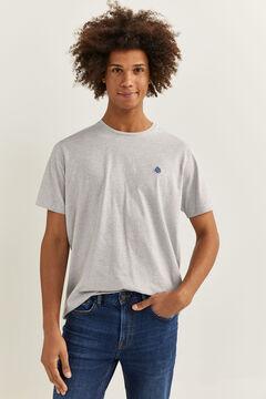 Springfield T-shirt microriscas azulado