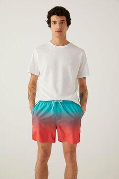 Springfield Magic print swimming shorts violet
