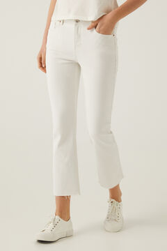 Springfield Kick Flare Jeans white