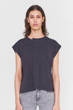 Springfield T-shirt with cutaway sleeves gray